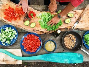 Préparer un apréitif ou un repas entre amis, tout végétarien