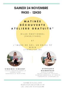 Atelier Image de soi samedi 24novembre Chez Une Vie En Equilibre à Biarritz de 11h à 12h30