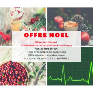 Cadeau de noel : bilannutritionnel et découverte de la cohérence cardiaque