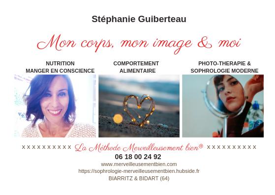 Méthode Merveilleusement bien® par Stéphanie Guiberteau, détailes de l'accompagnement : nutrition, comportement, photoportait, travail au miroir, sophrologie psycho-comportementale