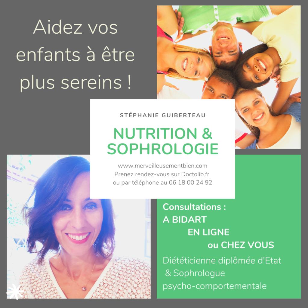 Stéphanie Guiberteau, sophrologue comportementale, accompagne enfants, ados et jeunes adultes vers un mieux-être dès la rentrée ! RdV sur Doctolib.fr