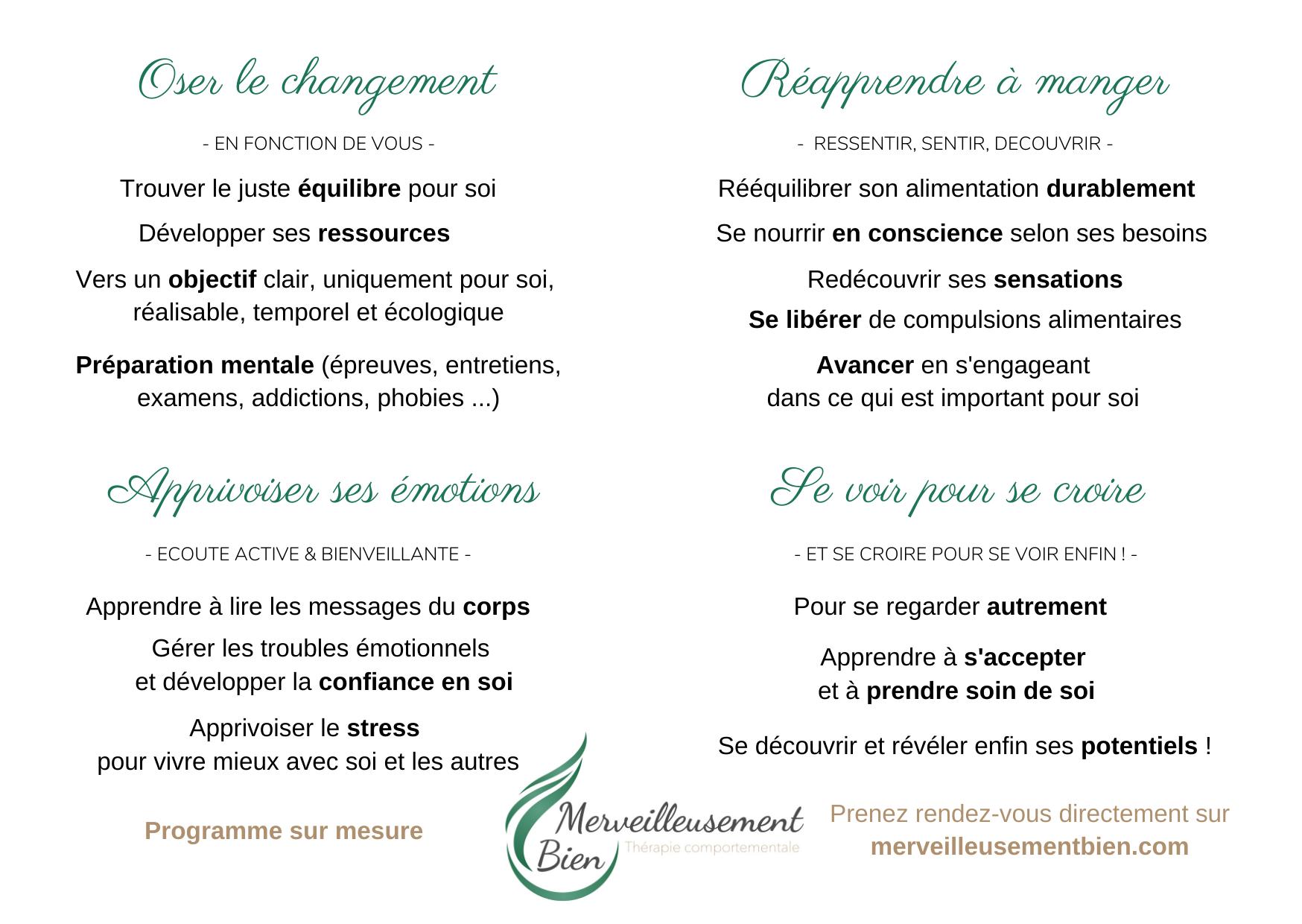 Verso carte de visite Stéphanie Guiberteau - Merveilleusement bien
